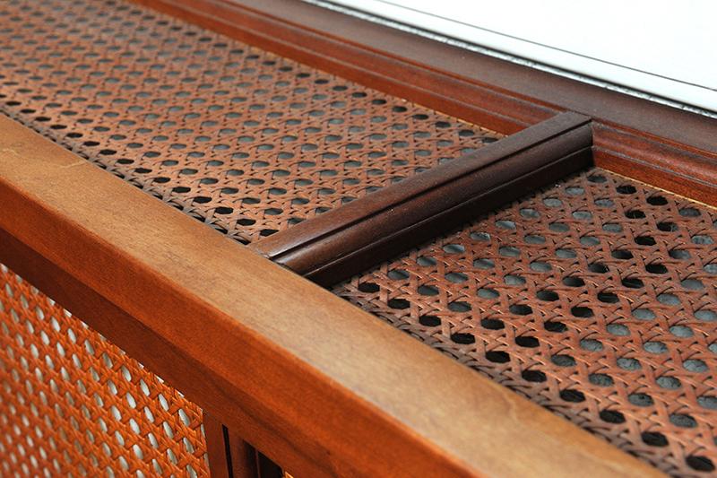 Degelijke radiatorombouw - detail bovenkant