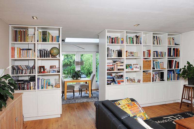 Overzicht en doorkijk room divider naar eigen ontwerp