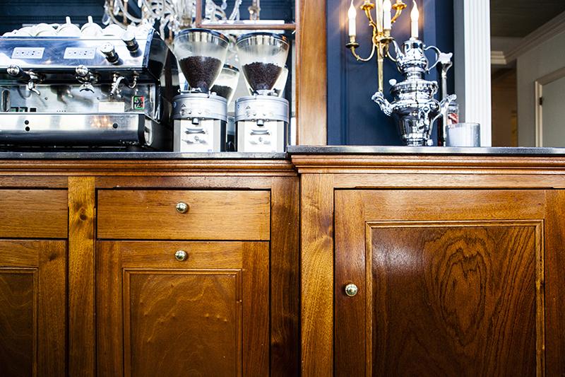 Exclusieve lounge balie Amstel Hotel - detail