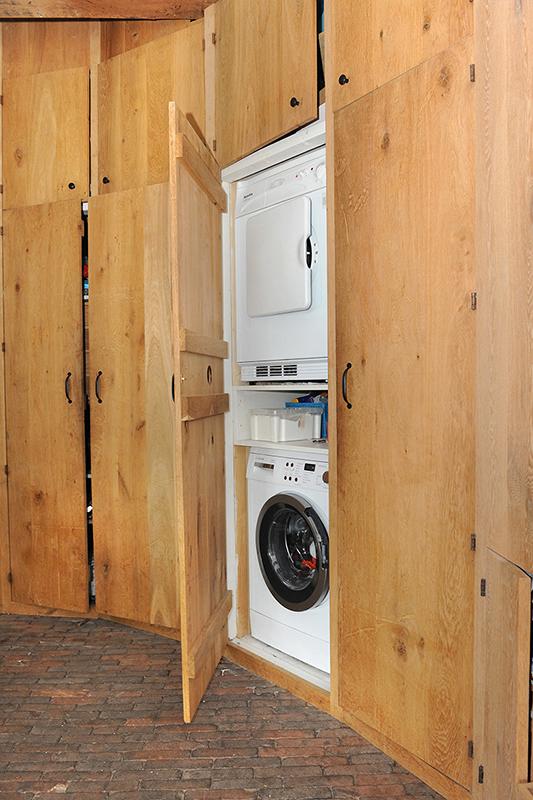 Kastenwand apparatuur uit zicht - wasmachine - droger